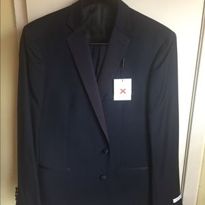 NWT! Men's Calvin Klein Blue 48L Tuxedo